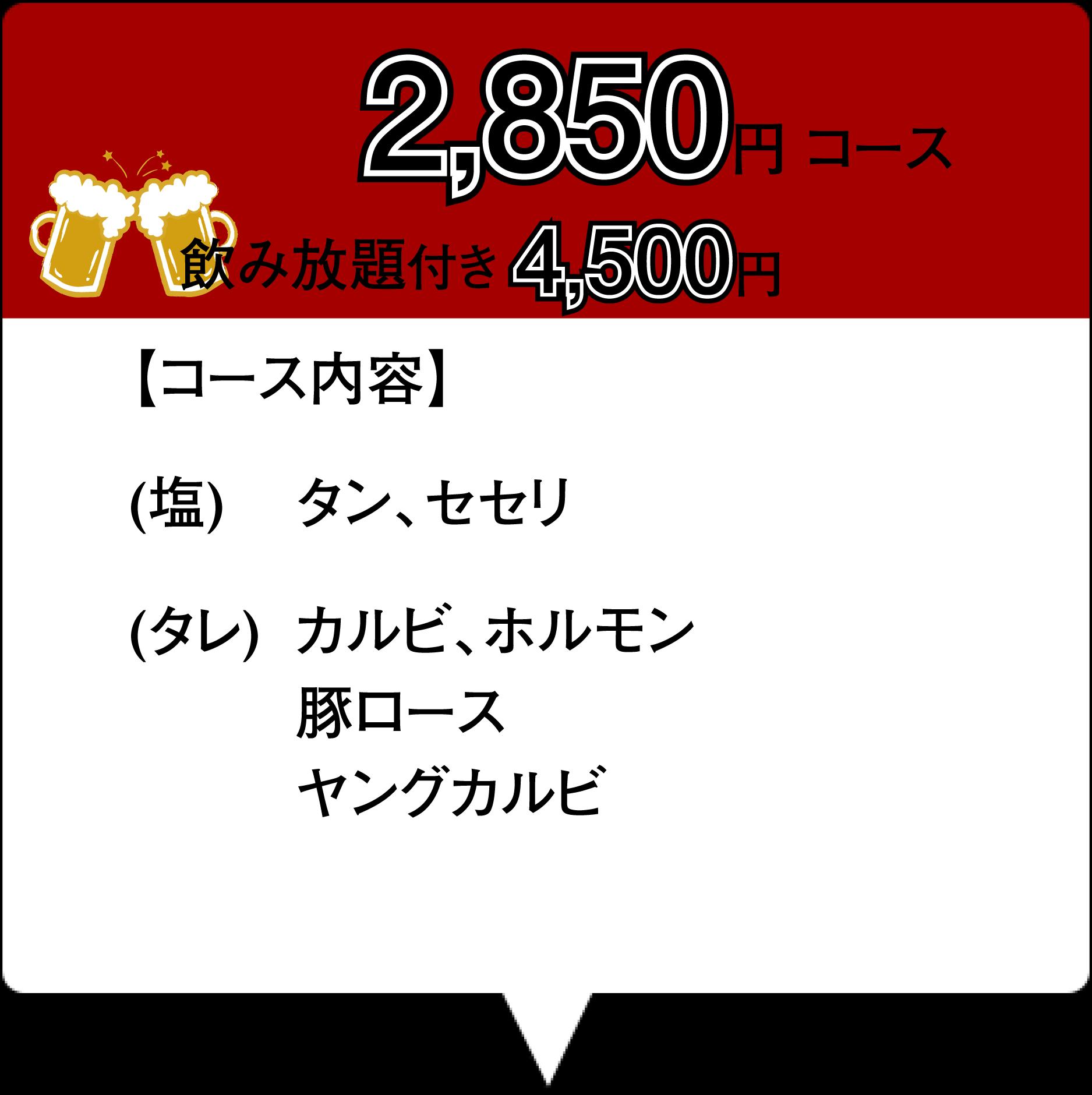焼肉コース1